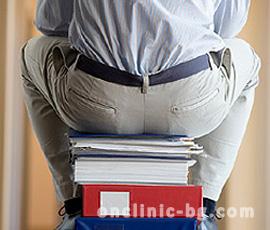 Хемороидите най-често засягат хората със седящи професии